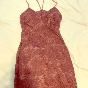 Short maroon homecoming dress